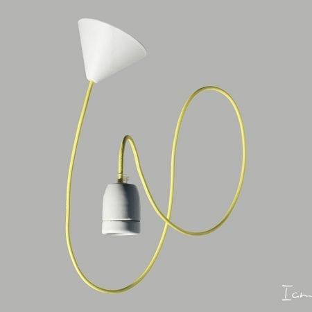 textile cable lamp