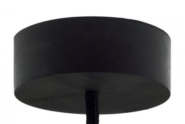 Rubber ceiling rose – black