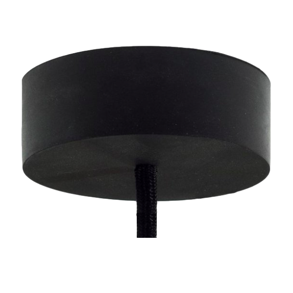black rubber ceiling rose